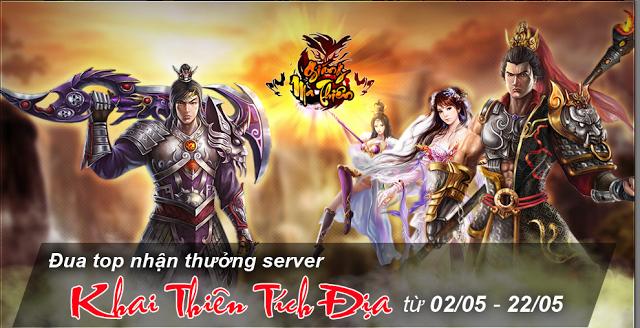 Web game nhập vai online Giáng Ma Thiên tại cổng game Zing Appstore